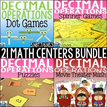 Decimal Operations Math Centers Bundle