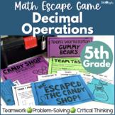 Decimal Operations Math Escape Game