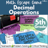 Decimal Operations Math Escape Game