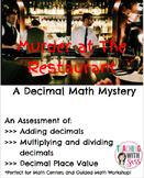 Decimal Operations Math Mystery: Murder at the Restaurant