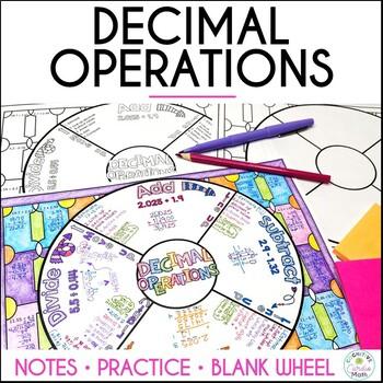 Decimal Operations Math Wheel