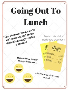 Decimals Mini Project- Going out to Lunch