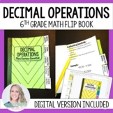 Decimal Operations Mini Tabbed Flip Book for 6th Grade Math