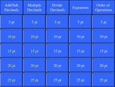 Decimal Operations PEMDAS Exponents Review