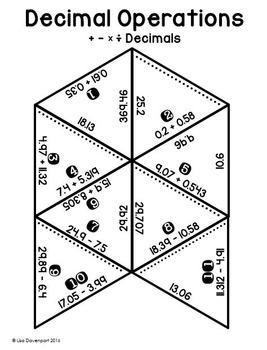 Decimal Operations (PUZZLE)