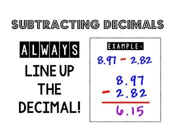 Decimal Operations (Posters)