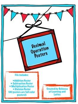 Decimal Operations Posters