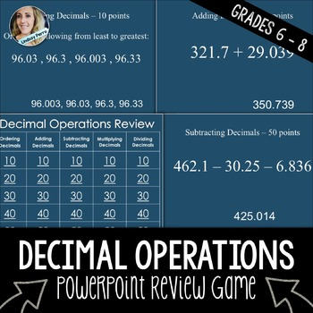 Decimal Operations PowerPoint Review Game