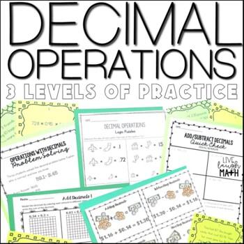 Decimal Operations Practice: 3 Levels of Decimal Practice
