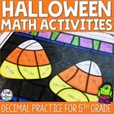 Halloween Math Practice - Decimals
