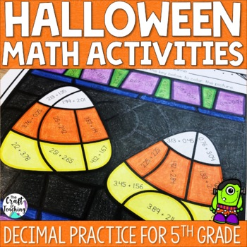 Halloween Math Practice - Decimals