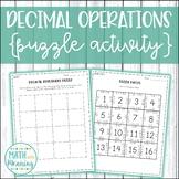 Decimal Operations Puzzle Activity
