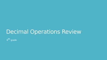 Decimal Operations Review