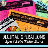 Decimal Operations Review Game