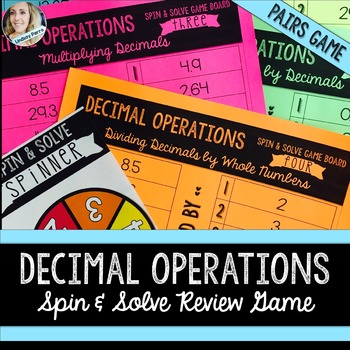 Decimal Operations Review Game