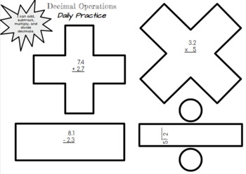 Decimal Operations Review and Practice