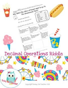 Decimal Operations Riddle