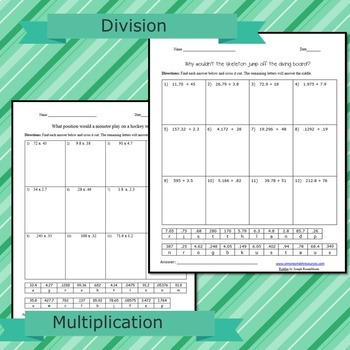 Decimal Riddles: Add, Subtract, Multiply, and Divide