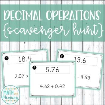 Decimal Operations Scavenger Hunt Activity