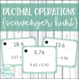 Decimal Operations Scavenger Hunt Activity