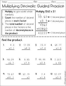 Add Subtract Multiply Divide Decimals