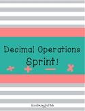 Decimal Operations Sprint!