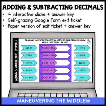 Decimal Operations - Supplemental Digital Math Activities for Google Slides™