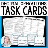 Decimal Operations Task Cards