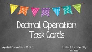 Decimal Operations Task Cards (2 designs)