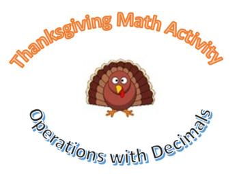 Decimal Operations Thanksgiving Crativity Bundle