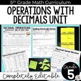 Decimal Operations Unit