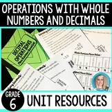 Operations with Whole Numbers and Decimals Unit Resources