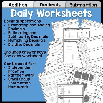Decimal Operations Unit for 5th Grade | Lessons, Practice, Assessment