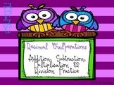 Decimal Operations Word Problem Cards