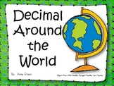 Decimal Operations Word Problems Around The World Game{30 Word Problems}
