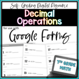 Decimal Operations- for use with Google Forms