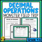 Decimal Operations to Hundredths- Monster Field Trip