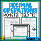 Decimal Operations to Hundredths- Monster Field Trip