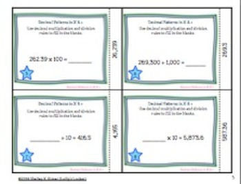 Decimal Patterns in Multiplication and Division Task Cards
