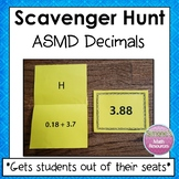 Decimals Scavenger Hunt (Add, Subtract, Multiply, and Divide)