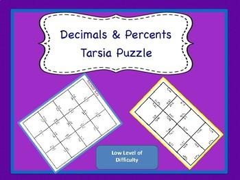 Decimal & Percent Matching Puzzle