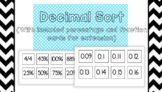 Decimal, Percentage and Fraction Sort