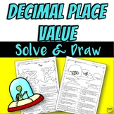 5th Grade Decimal Place Value Color by Answer Practice