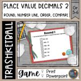 Decimal Place Value 2 Trashketball Math Game