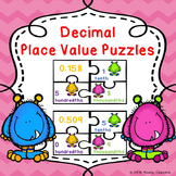 Math Game 5th Grade Decimal Place Value Activity Puzzles 5.NBT.3