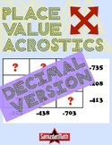 Decimal Place Value Acrostic Puzzles: Deductive Reasoning & Fun!