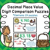 Decimal Place Value Activity Puzzle Comparing Place Value 5th Grade Math 5.NBT.1