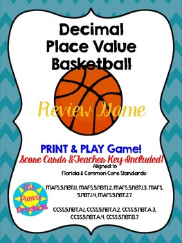 Decimal Place Value Basketball