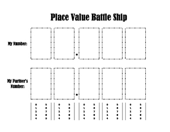 Decimal Place Value Battleship