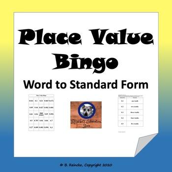 Decimal Place Value Bingo (30 pre-made boards!)